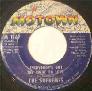 The Supremes - Everybody's Got The Right To Love / But I Love You More