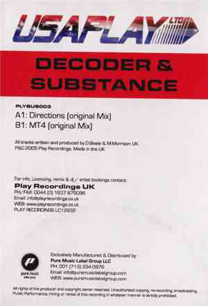 Decoder & Substance - Directions / MT4