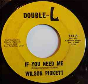 Wilson Pickett - If You Need Me / Baby Call On Me
